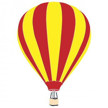 Red and yellow air balloon