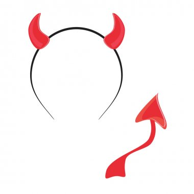 Devil tail and horn