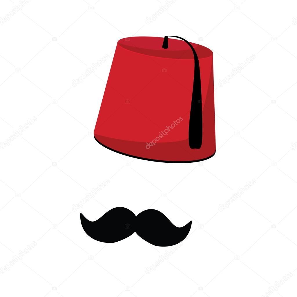 Turkish hat and mustache