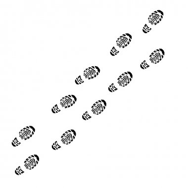 Shoe print vector track