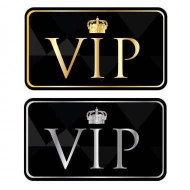 Silver and golden vip pass