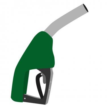 Green petroleum pump
