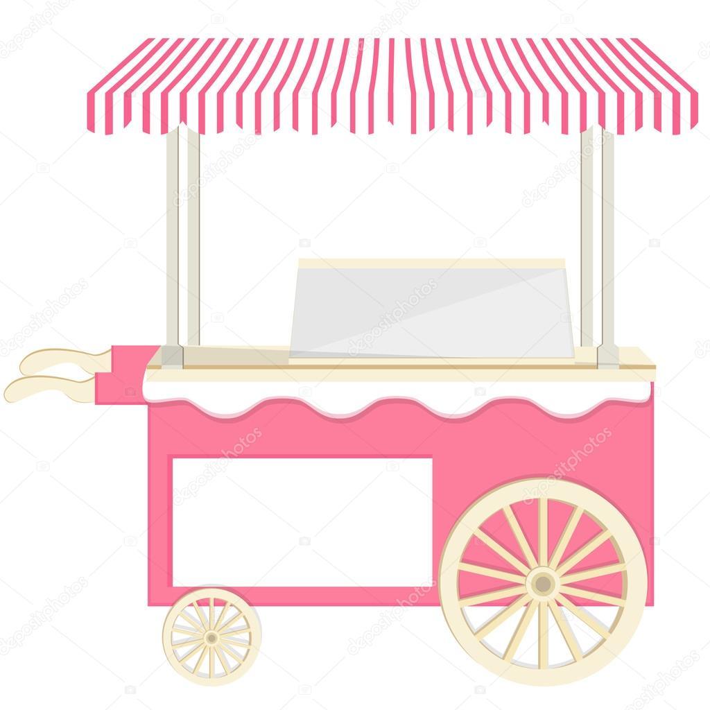 Ice cream pink cart