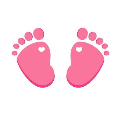Pink baby footprint