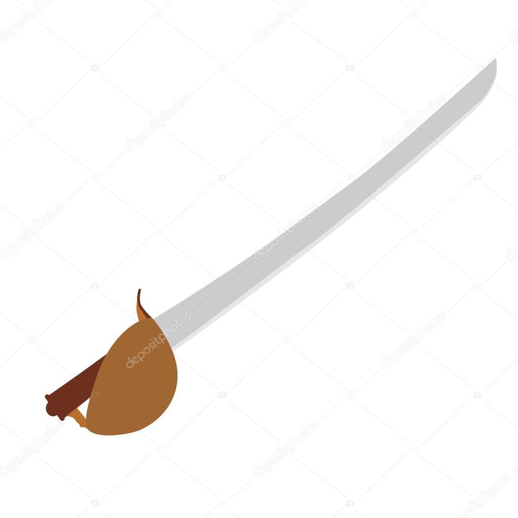 Pirate Sword Vector Stock
