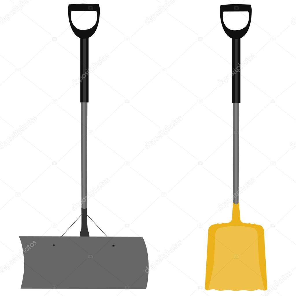 Snow shovel grey and yellow