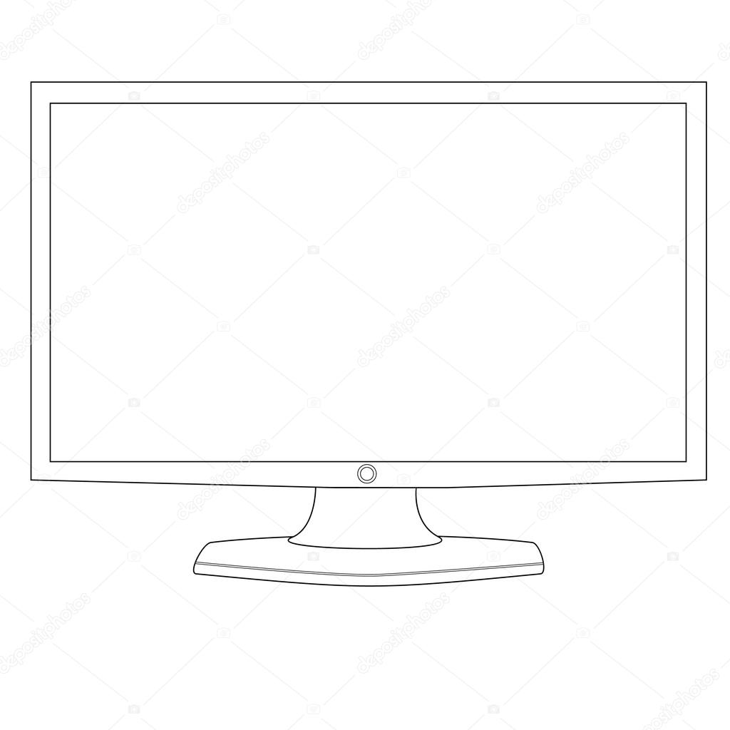 images  computer monitor outline