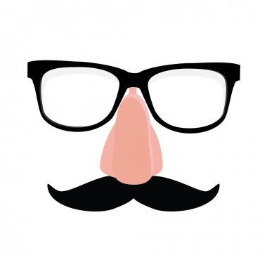 Disguise glasses, nose and mustache