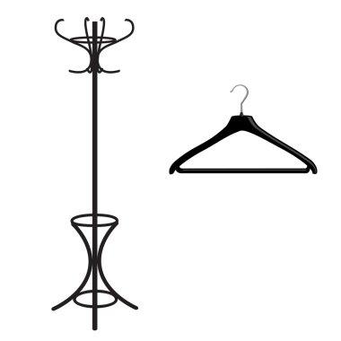 Coat rack and hanger