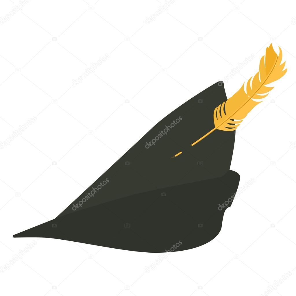 0206cf87f68 Robin hood hat — Stock Vector © viktorijareut  81652350