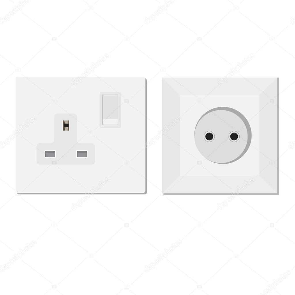 European and uk socket — Stock Vector © viktorijareut #81658754