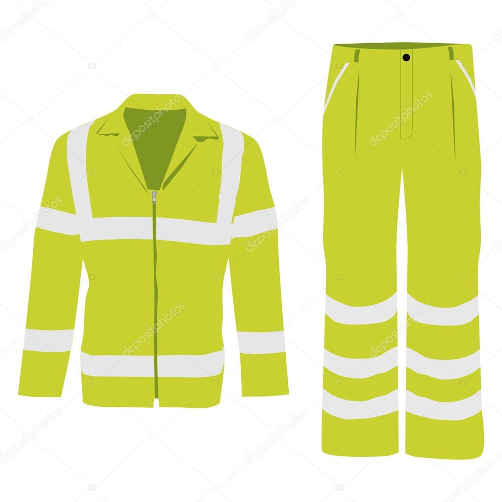Worker pants and jacket