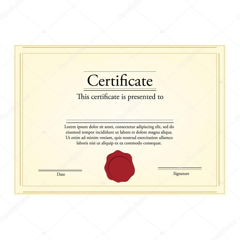 Zertifikatvorlage — Stockvektor © viktorijareut #81773562