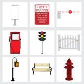 Fotografia Set di icone strada