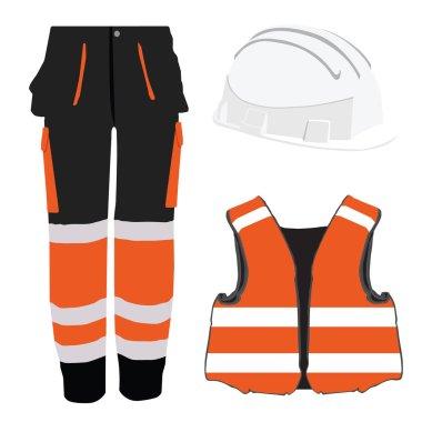 Safety clothing set