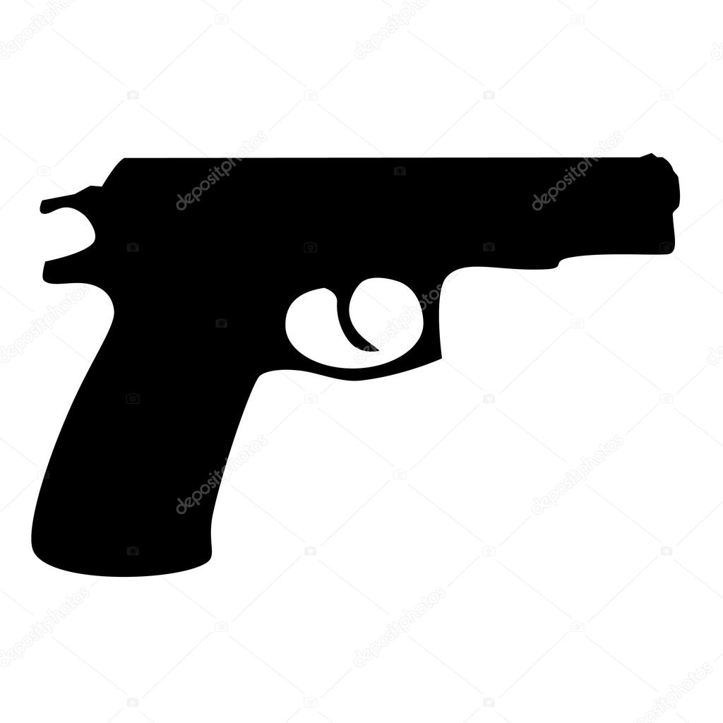gun silhouette vector stock vector c viktorijareut 87933044 https depositphotos com 87933044 stock illustration gun silhouette vector html