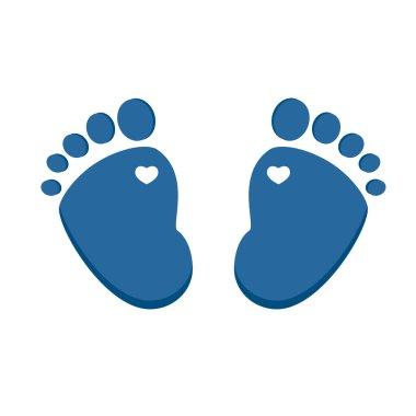 Blue baby footprint