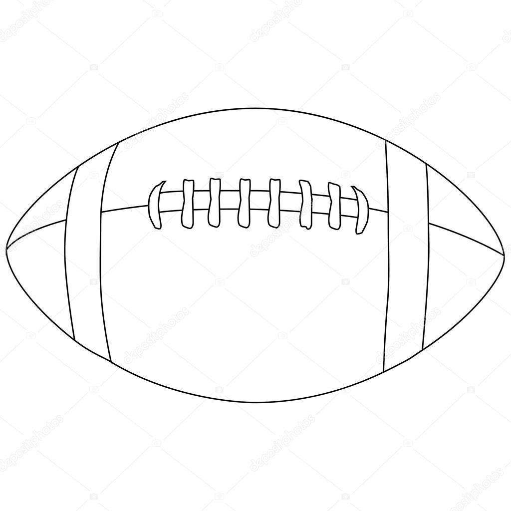 Balones De Futbol Americano Para Colorear Contorno De La Pelota De