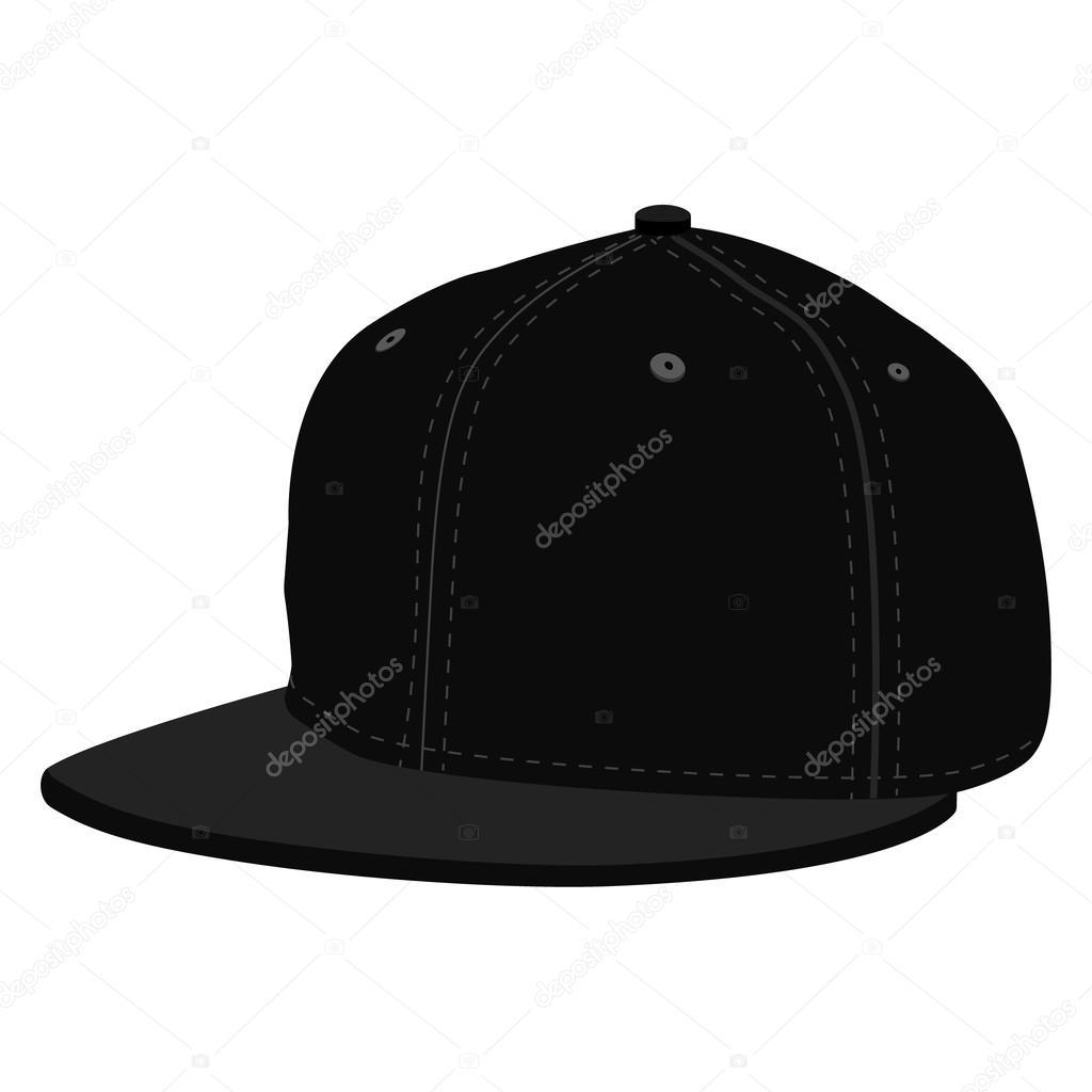 Gorra de béisbol negra — Archivo Imágenes Vectoriales ... 0e0e3c34e35