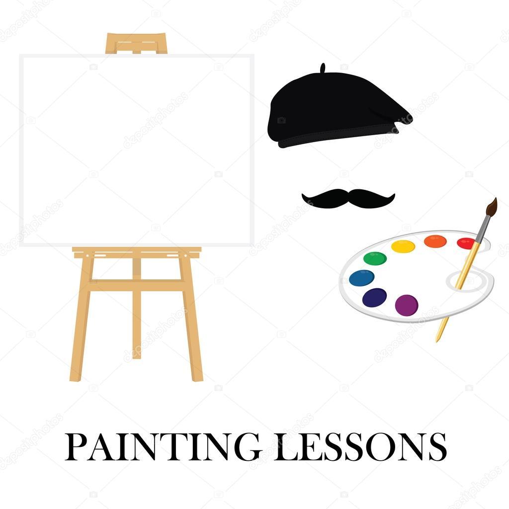 Painting school concept
