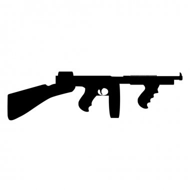 Tommy gun silhouette