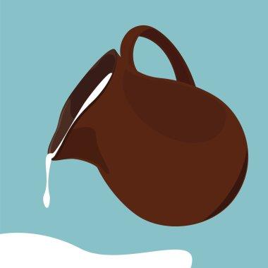 Pouring milk jug
