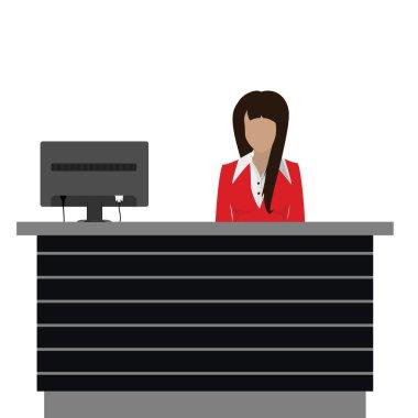 Reception desk vector
