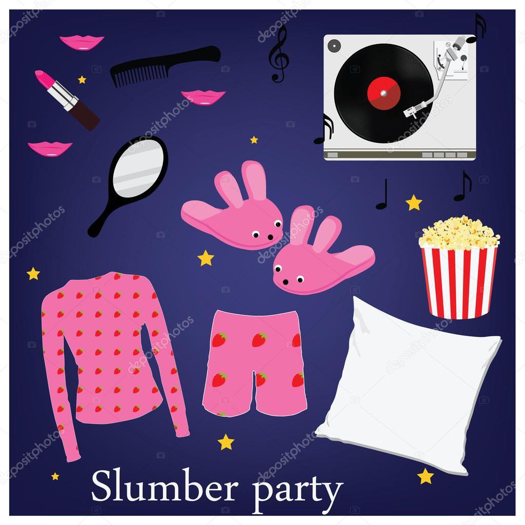 Slumber party icons