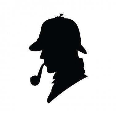 Detective silhouette icon