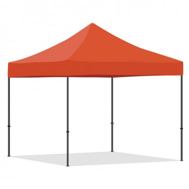 Orange folding tent