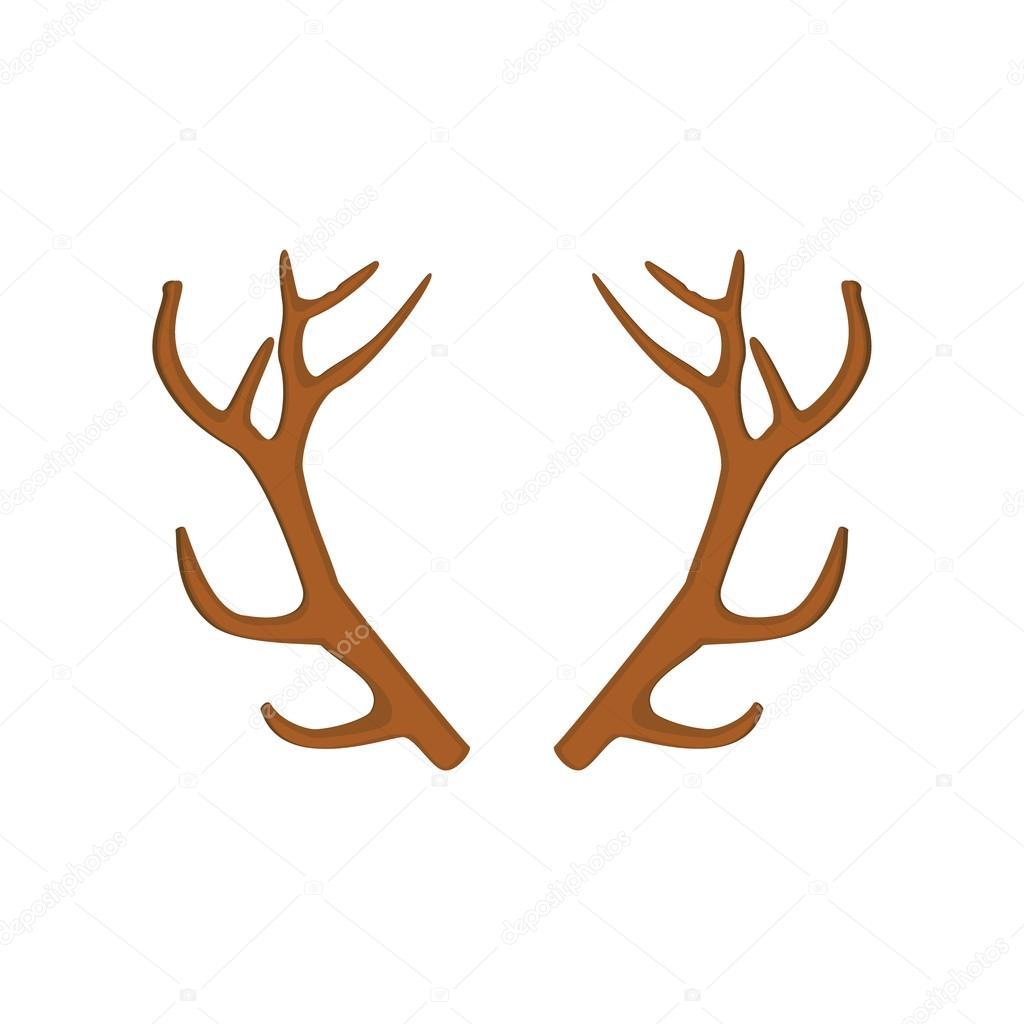 Icono de cuerno de ciervo — Vector de stock © viktorijareut #91857354