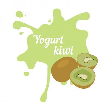 Splash of kiwi yogurt