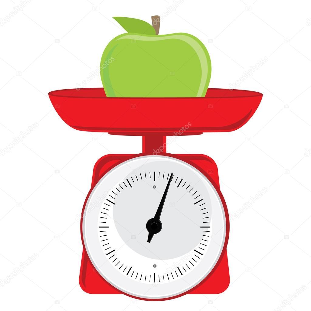 Weight With Apple Stock Vector C Viktorijareut 94470862