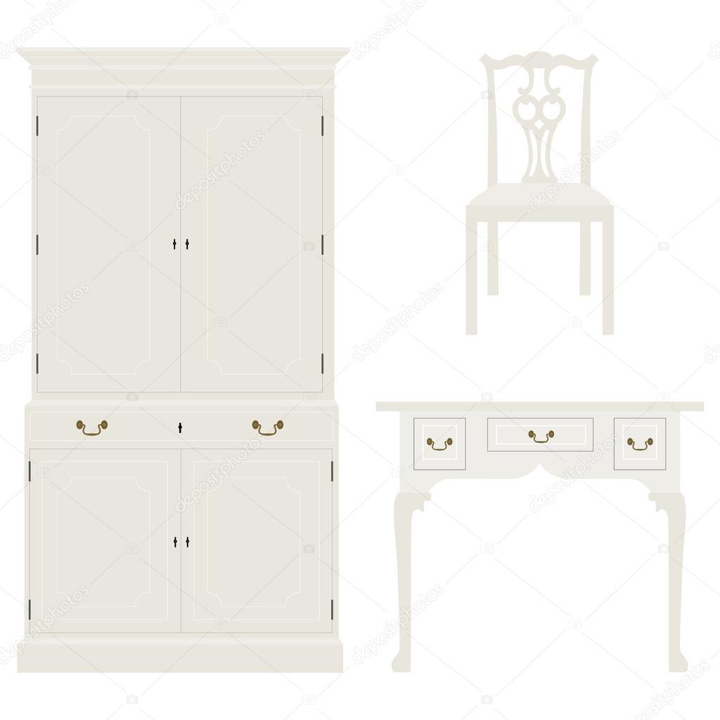 Muebles vintage blancos mueble blanco decapado bao ainara for Stock de muebles