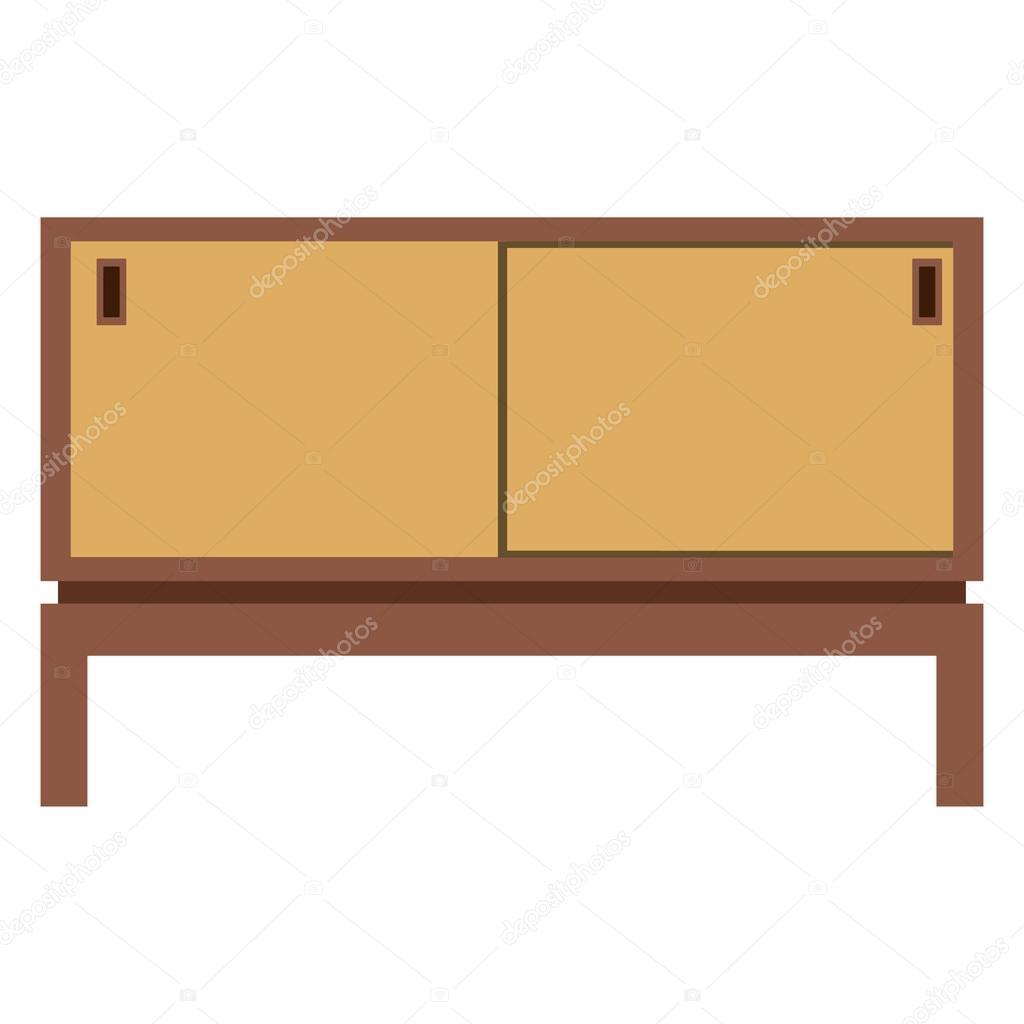 vektor abbildung retro holzmobel fur tv tv schrank tisch oder stand vektor von viktorijareut