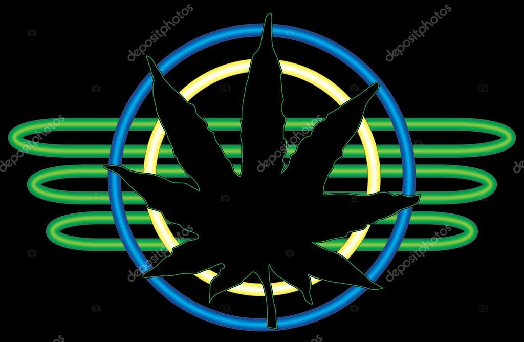 Neon Marijuana Leaf Stock Vector Lilratskull 54826159