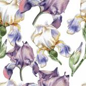 Fotografie Seamless pattern with watercolor flowers.
