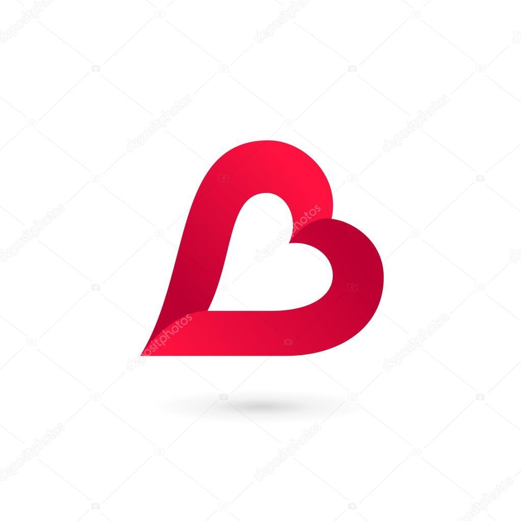 Letter b in heart
