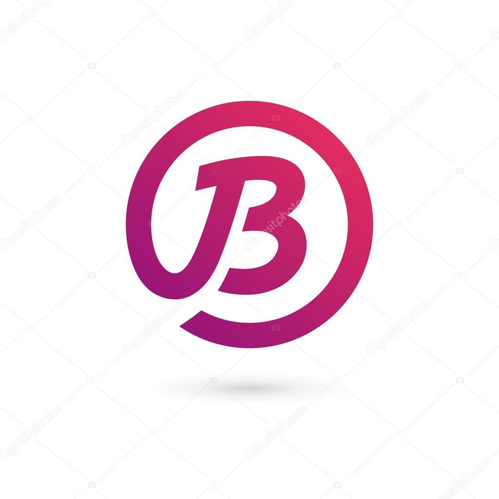 elementos de plantilla de dise241o de letra b logo icono