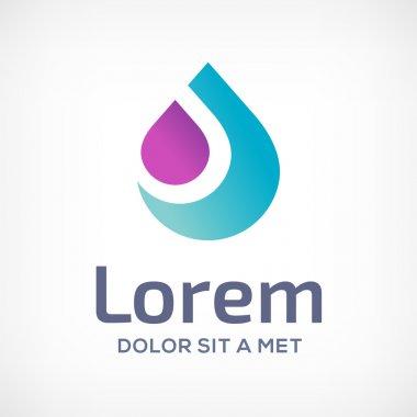Water drop symbol logo design template icon