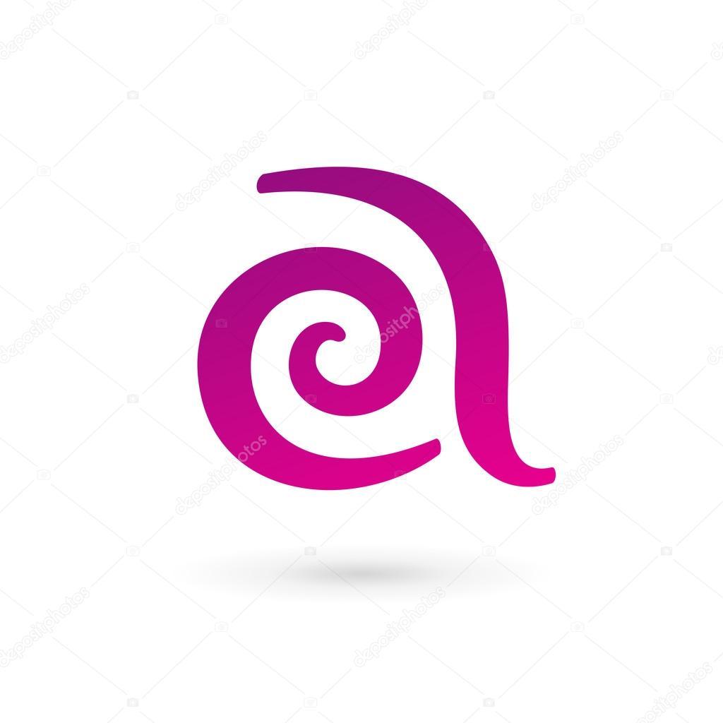 Elementos de plantilla de diseño de icono de letra A logo — Vector ...