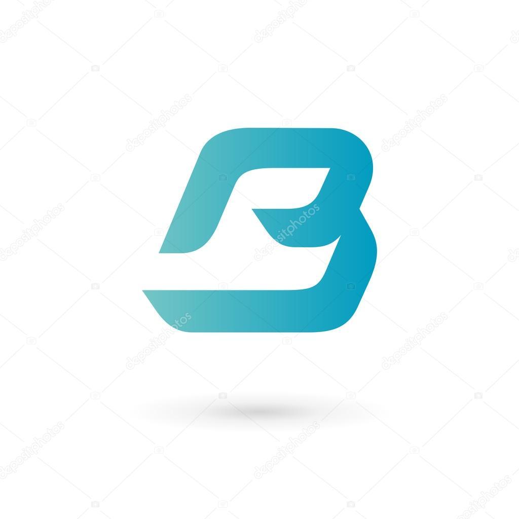 Elementos de plantilla de diseño de letra B logo icono — Vector de ...