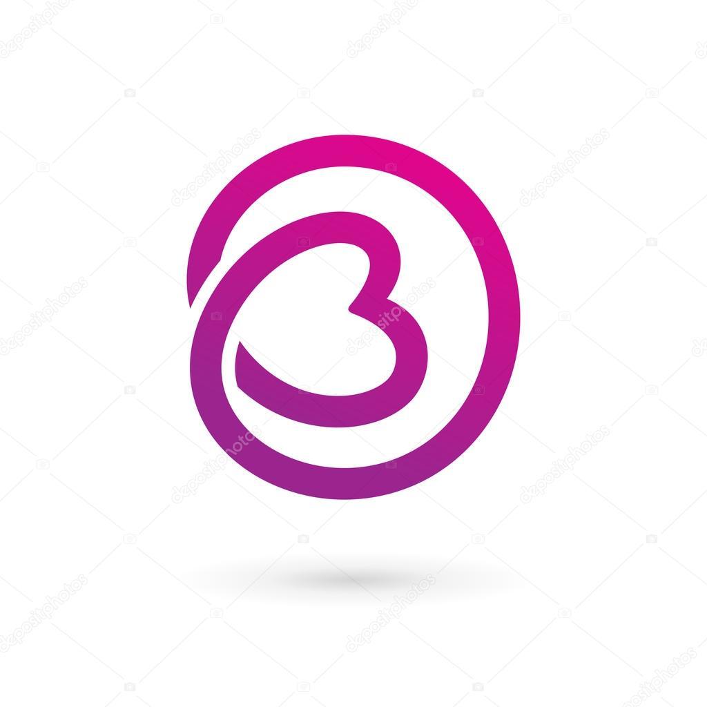 201l233ments du mod232le de conception lettre b coeur logo ic244ne