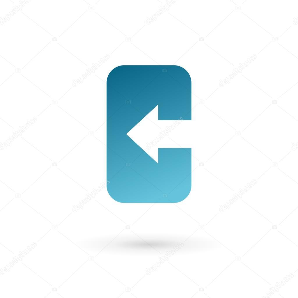 Plantilla de diseño de icono de letra C teléfono móvil la aplicación ...