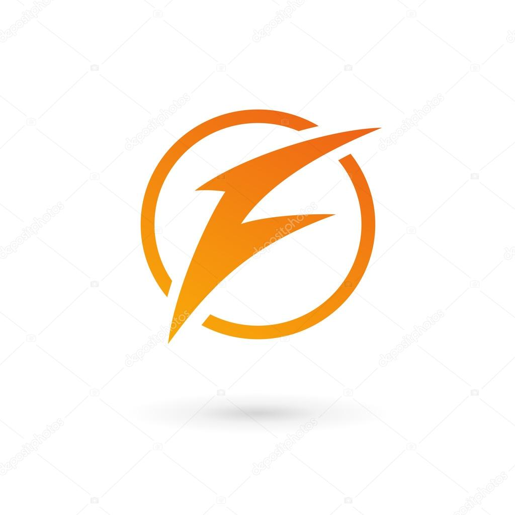 letter f lightning logo icon � stock vector 169 arbuzu 55081487