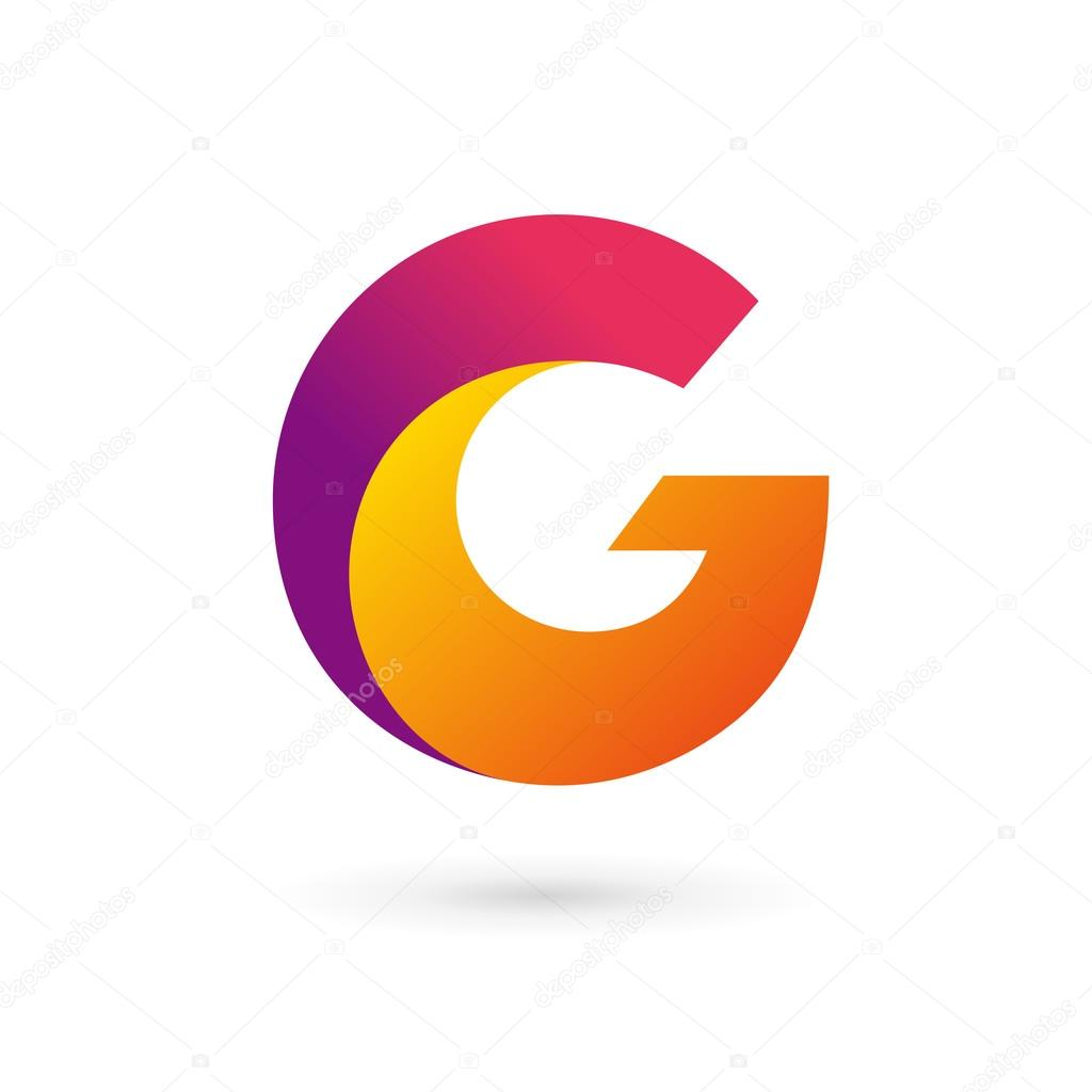 letter g logo icon design template elements � stock vector