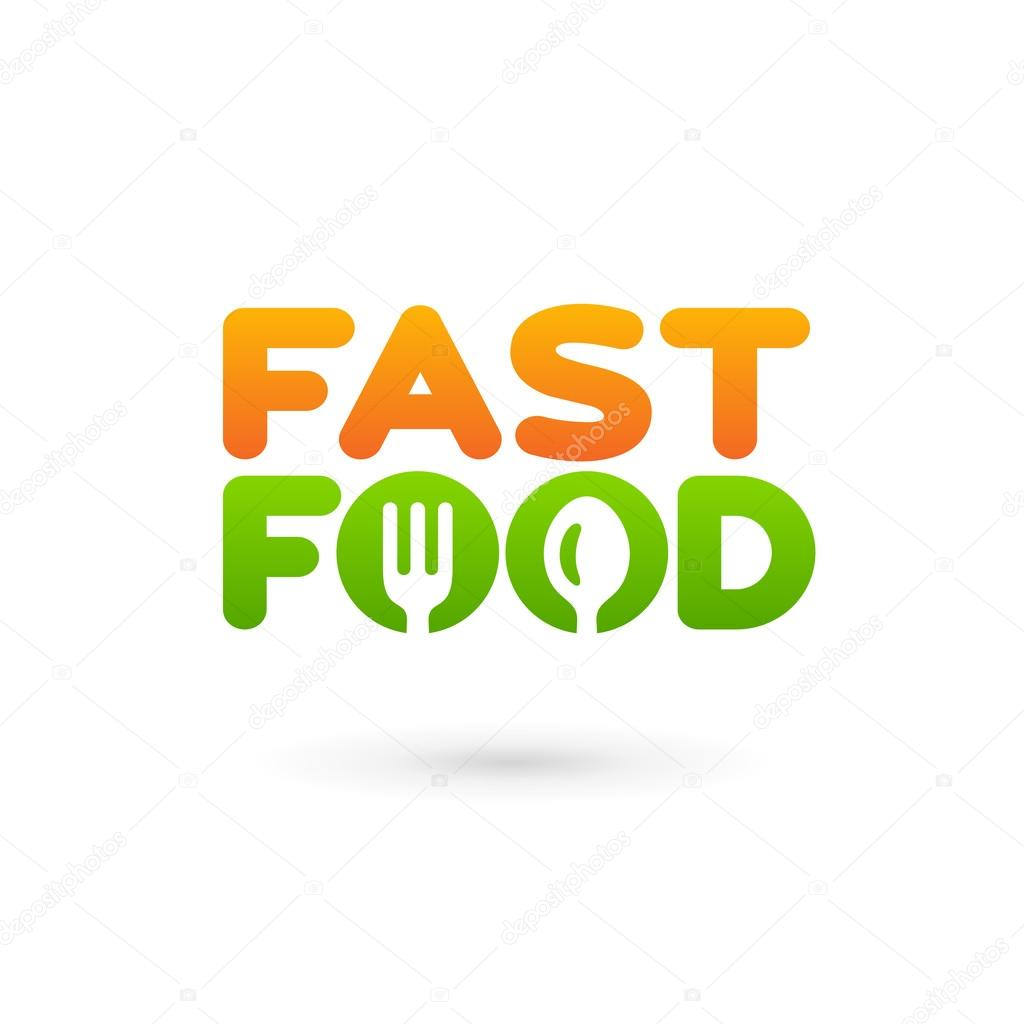 Fastfood word sign logo icon design template elements with spoon fastfood word sign logo icon design template elements with spoon stock vector maxwellsz