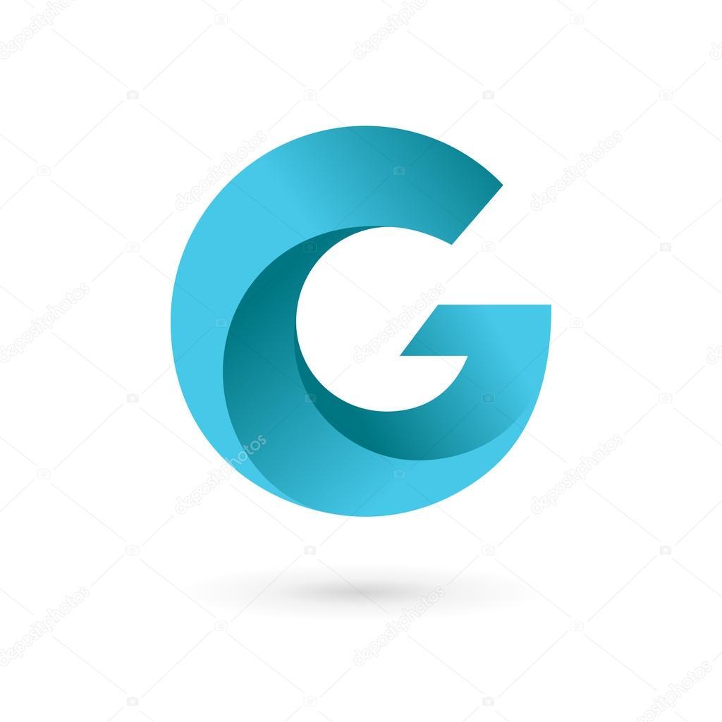 Elementos de plantilla de diseño de letra G logo icono — Vector de ...