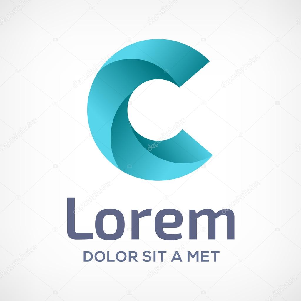 C Logo: Letter C Logo Icon Design Template Elements. Vector Color