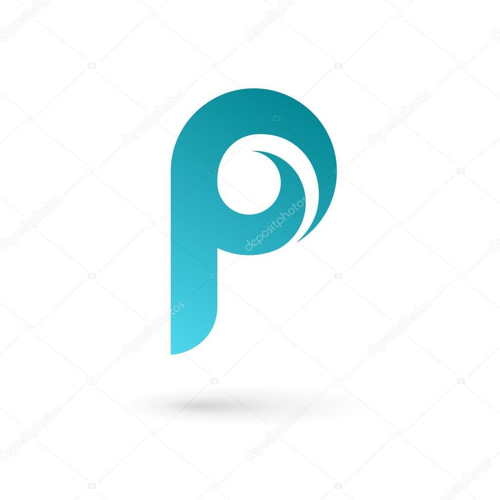 letter p logo icon design template elements stock vector